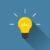 Creative idea in light bulb shape as inspiration concept